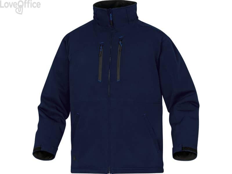 Giacca da lavoro Delta Plus Parka Milton 2 chiusura con zip impermeabile - 6 tasche -poliestere blu XXL - MILT2BMXX