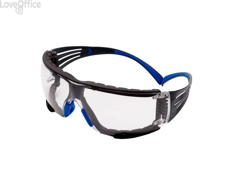 Occhiali di protezione 3M blu/grigio SF401SGAF-BLU-F