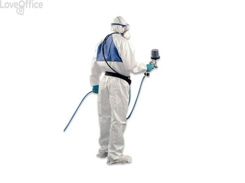 Tuta da lavoro di protezione 3M colore bianco con pannello posteriore verde bianco-verde 2XL - 4520 2XL