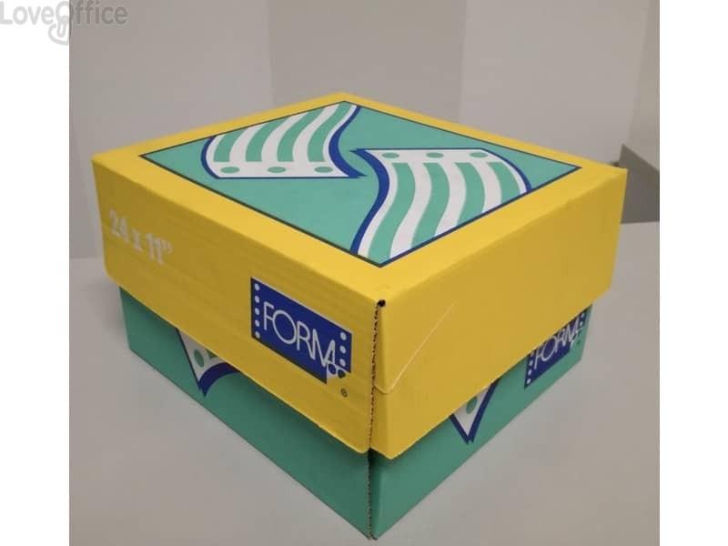 """Moduli continui """"CARTA BIANCA"""" Form 70 g/m² piste microperforate bianco - 11150218 (scat. 2000 moduli)"""