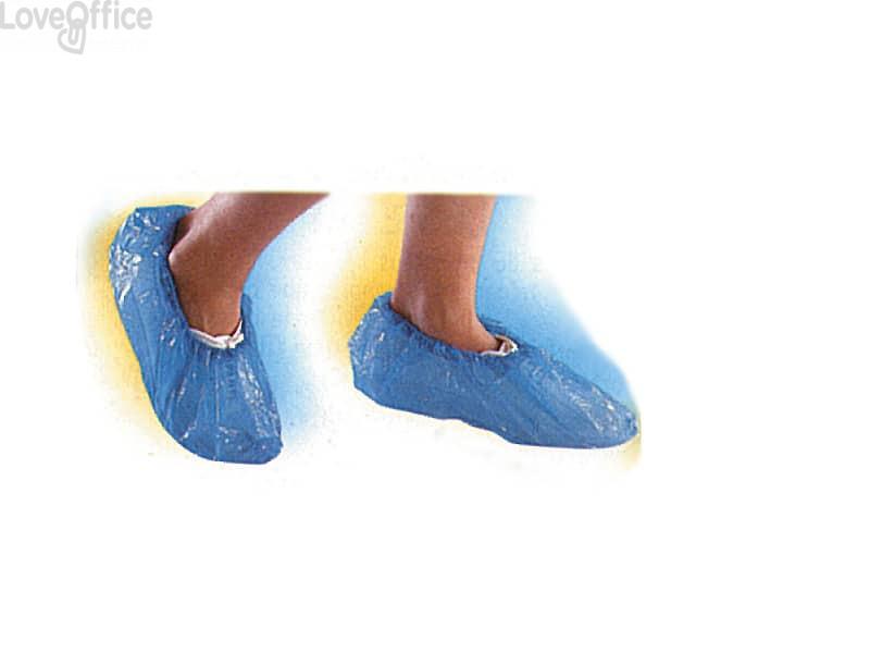 Copriscarpe Icoguanti con elastico caviglia blu misura unica - SOVPE (conf. da 100)