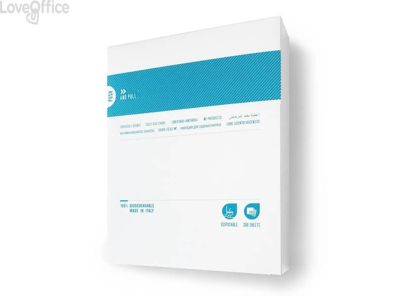 Box Veline copri WC 37,5x41 cm QTS - bianco (conf. 200 pezzi)