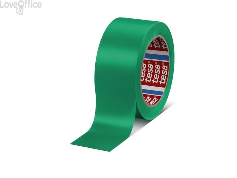 Nastro segnaletico in PVC verde Tesa Tesaflex® rivestito da un adasivo in gomma resina modificata - 60760-00097-15