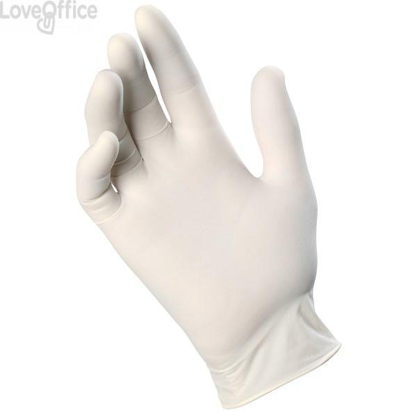 Guanti in lattice Icoguanti - Latex - L - DPI 1 cat. - bianco (conf.100)
