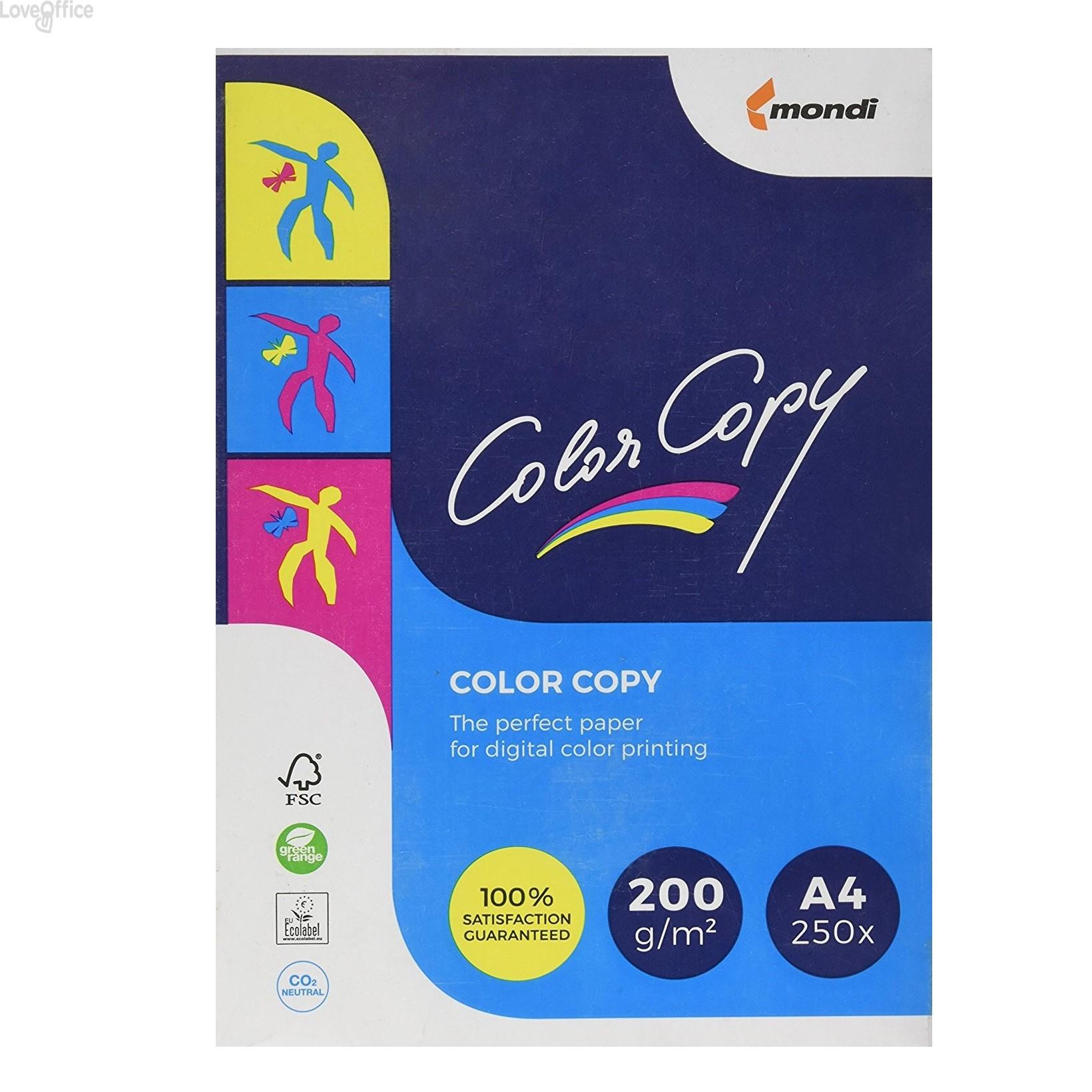 Risma cartoncini Color Copy Mondi - A4 - 200 g/mq (risma da 250 fogli)