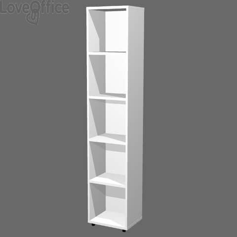 Libreria componibile Artexport Protocollo - Bianco - 40x32x196 cm