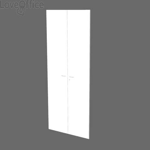 Coppia ante alte per libreria componibile Artexport Protocollo - Bianco - 76x196 cm