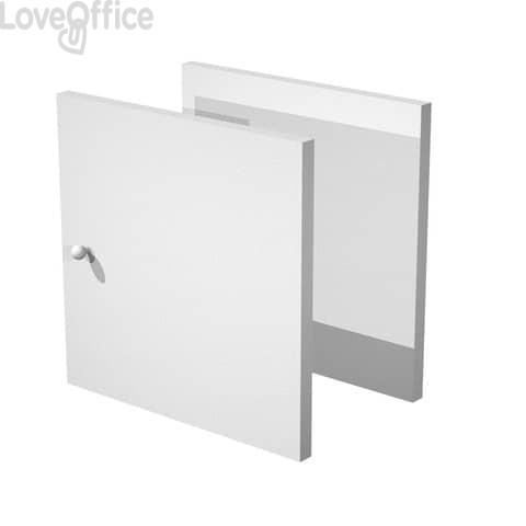 Libreria componibile Artexport Maxicube - Set 2 antine Grigio alluminio 2A-MaxC-5