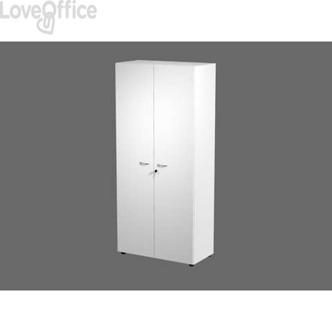 Armadio da ufficio alto Bianco con ante Artexport 2898 in melaminico - 90x45,8x200h
