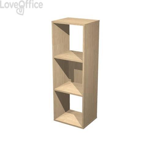Libreria componibile Artexport Maxicube - 3 caselle Rovere 3MaxC-C