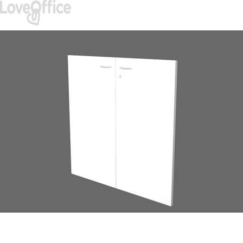 Coppia ante basse per libreria componibile Artexport Protocollo - Bianco - 76x81 cm