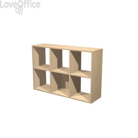 Libreria componibile Artexport Maxicube - 6 caselle Rovere 6MaxC-C
