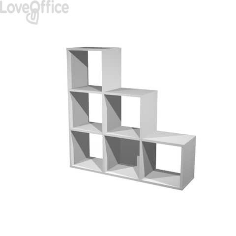 Libreria componibile Artexport Maxicube - 6 caselle scalare Grigio alluminio 6DMaxC-5