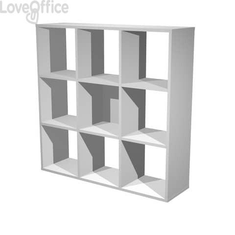 Libreria componibile Artexport Maxicube - 9 caselle Grigio alluminio 9MaxC-5