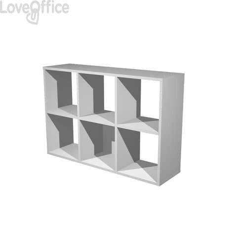 Libreria componibile Artexport Maxicube - 6 caselle Grigio alluminio 6MaxC-5