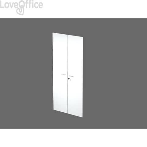 Coppia ante con serratura Artexport in melaminico per mobile alto Presto 80x175 cm bianco - 60075/M/3