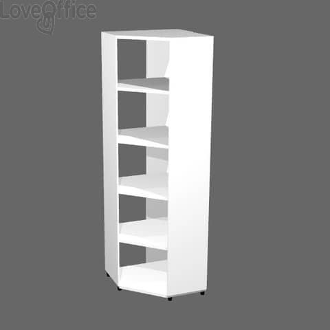 Libreria componibile Artexport Protocollo angolare Bianco - 59,6x59,6x196