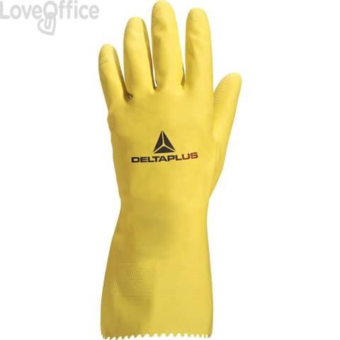 Guanti casalinghi Delta Plus Picaflor lattice giallo 30 cm taglia 7/8 - VE240JA07