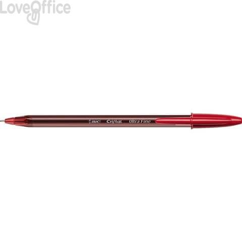 Penne a sfera con cappuccio BIC Cristal® Exact 0,7 mm rosso (conf. 20)