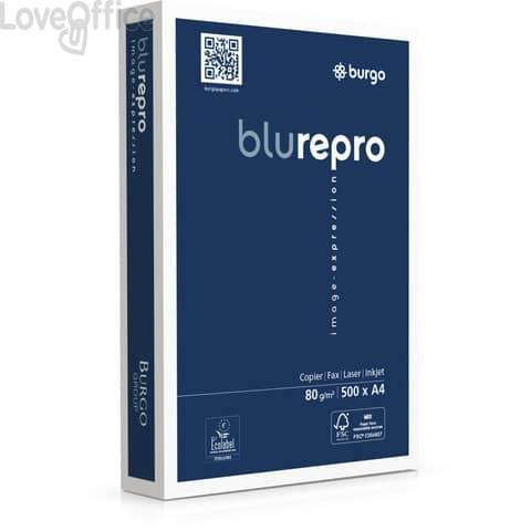 Carta per fotocopie A4 Burgo Repro Blu A4 - Premium Quality 80 gr. bianca (240 risme da 500 fogli)