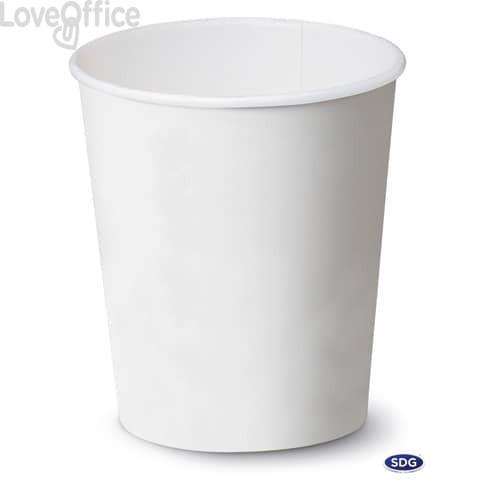 Bicchieri in cartoncino 5,5oz (195ml) Bianco Scatolificio del Garda Bianco - 111-00-S (conf. 50 pezzi)
