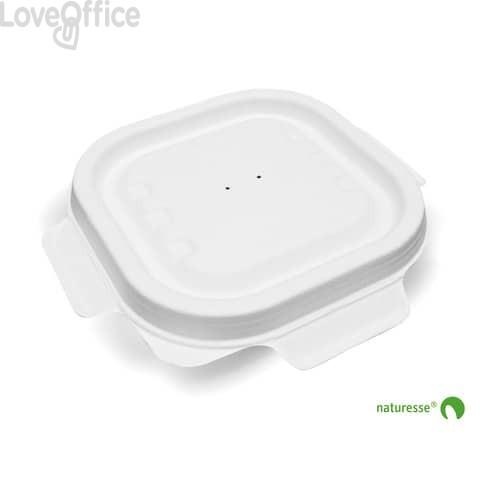 Coperchi richiudibili polpa cellulosa per vaschetta asporto 340ml Scatolificio del Garda Bianco - 3455 (conf. 125 pz)