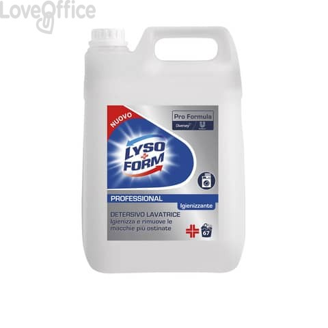 Detersivo igienizzante lavatrice Lysoform Professional Pro Formula - flacone 5 litri - 101101987