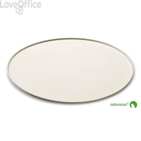 Piatti pizza Ø 325 mm in polpa di cellulosa Scatolificio del Garda Bianco (conf. 50 pezzi)