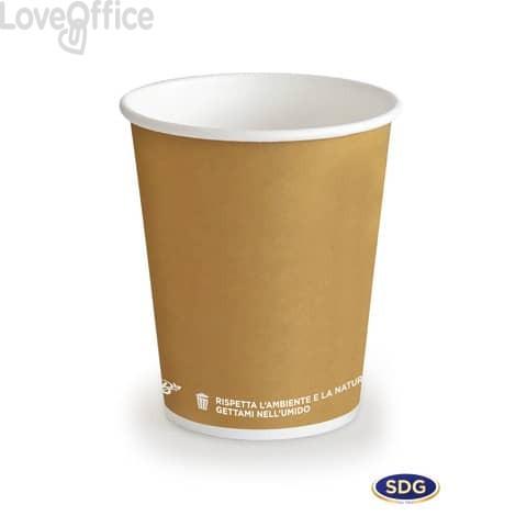 Bicchieri in cartoncino 3oz (85ml) Avana Bio Scatolificio del Garda Avana - 300-63-S (conf. 50 pezzi)