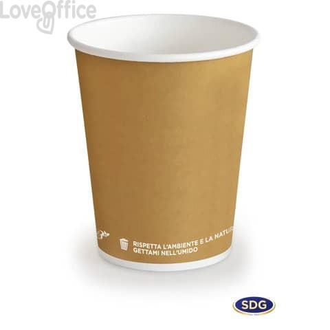 Bicchieri in cartoncino 5,5oz (195ml) Avana Bio Scatolificio del Garda Avana - 315-63-S (conf. 50 pezzi)