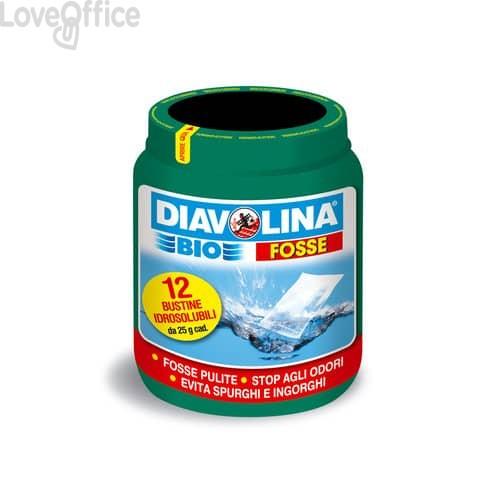 Attivatore fosse biologiche Diavolina Bio - bustine idrosolubili da 25 grammi - 16020 (12 bustine)