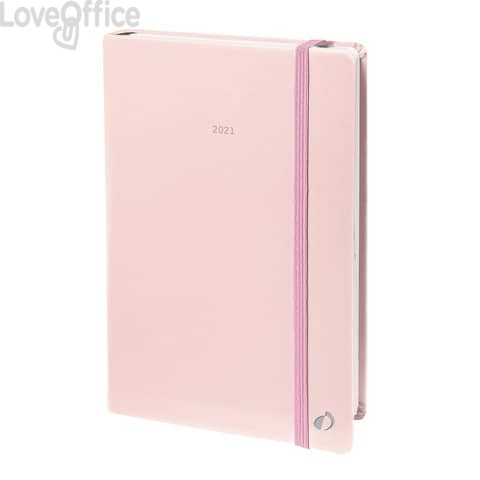 Agenda settimanale 2021 Quo Vadis Affari Riciclata Pastel 10x15 cm - rosa pastello - 004123021MQ