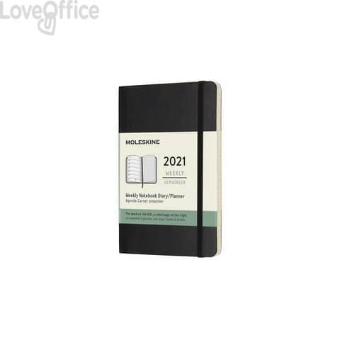 Agenda 2021 12 mesi settimanale pocket 9x14 cm copertina morbida Moleskine nero DSB12WN2Y21