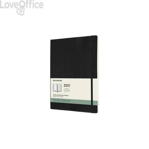 Agenda 2021 12 mesi settimanale xl 19x25 cm copertina morbida Moleskine nero DSB12WN4Y21