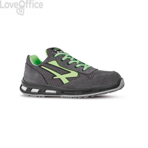 Scarpe antinfortunistiche basse Point S1P U-Power nylon grigio-verde n° 40 - RL20036 POINT S1P 40