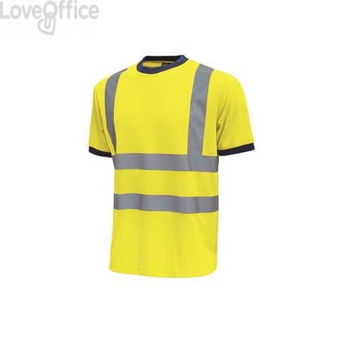 T-Shirt alta visibilità Mist U-Power cotone-poliestere giallo fluo - Taglia XXL - HL165YF  MIST 2XL