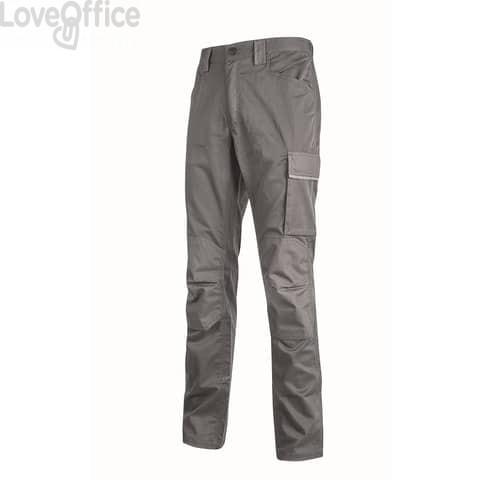 Pantalone da lavoro Meek U-Power grigio acciaio - 6 tasche - Taglia XL HY179GI MEEK XL