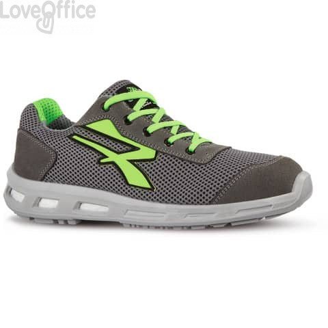 Scarpe antinfortunistiche in pelle Airnet Summer S1P U-Power grigio-verde n° 42 - RL20346 SUMMER S1P 42