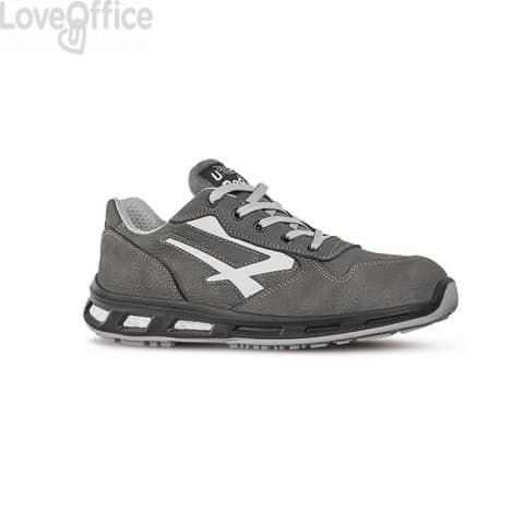 Scarpe antinfortunistiche in pelle Nabuk Idro Kick S3 U-Power grigio-bianco n° 40
