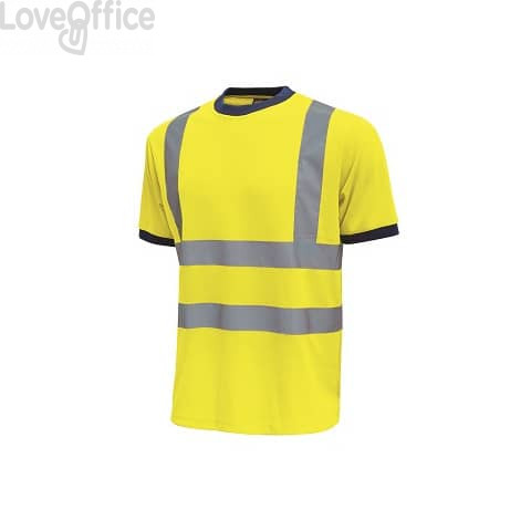 T-Shirt alta visibilità Mist U-Power cotone-poliestere giallo fluo - Taglia XL - HL165YF  MIST XL