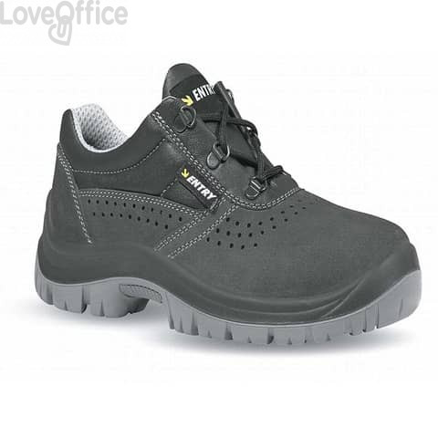 Scarpe antinfortunistiche in pelle di camoscio Movida S1P U-Power nero-grigio n° 40 - UE20025 MOVIDA S1P 40