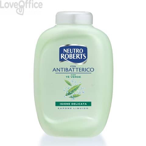Ricarica sapone Neutro Roberts Antibatterico con tè verde - 200 ml Conf 2 pezzi - R908140