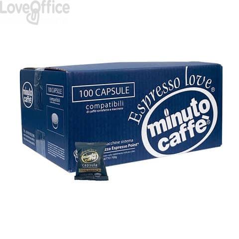 Caffè in capsule compatibili Lavazza Espresso Point Minuto caffè Espresso love2 100% arabica cartone 100 pz  00354