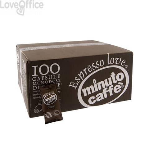 Caffè in capsule compatibili Nespresso Minuto caffè Espresso love3 crema - cartone 100 pezzi  - 01314