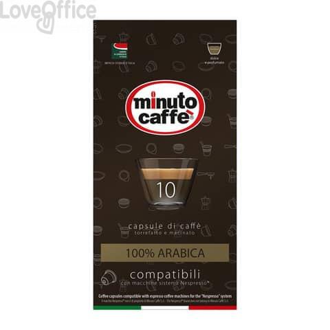 Caffè in capsule compatibili Nespresso Minuto caffè Espresso love3 100% arabica astuccio 10 pezzi - 01349