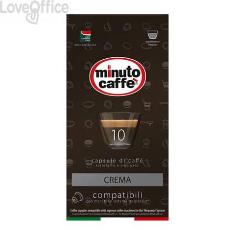 Caffè in capsule compatibili Nespresso Minuto caffè Espresso love3 crema - astuccio 10 pezzi - 01400