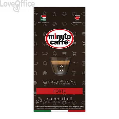 Caffè in capsule compatibili Nespresso Minuto caffè Espresso love3 forte - astuccio 10 pezzi - 02526