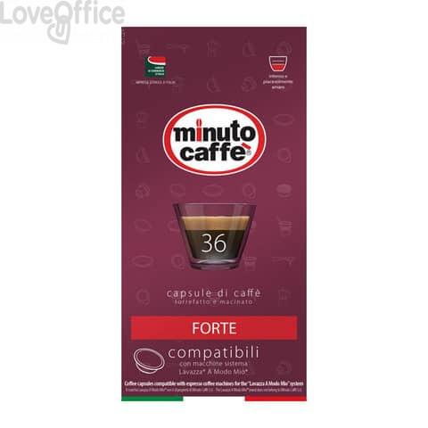 Caffè in capsule compatibili A Modo Mio Minuto caffè Espresso love4 forte - astuccio 36 pezzi - 02860
