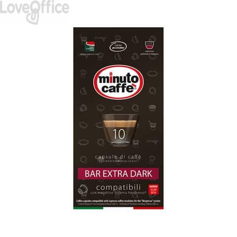 Caffè in capsule compatibili Nespresso Minuto caffè Espresso love3 bar extra dark astuccio 10 pezzi- 04901