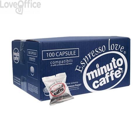 Caffè in capsule compatibili Lavazza Espresso Point Minuto caffè Espresso love2 crema - cartone 100 pezzi - 00356